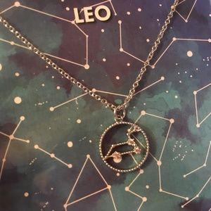 """Jewelry - Delicate Silver 18"""" Zodiac LEO Sign Chain Necklace"""